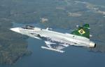Aeronave Gripen é apresentada na Suécia