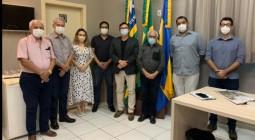 REUNIAO Do Diretor-geral do Instituto de Águas e Esgotos do Piauí com o Presidente da APPM, prefeito Paulo César