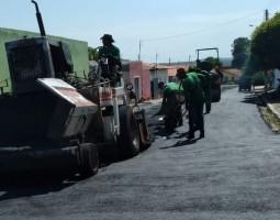 DER pavimenta ruas do município de São Miguel da Baixa Grande