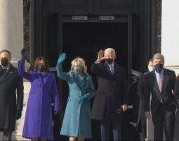 Senadores comemoram posse de Joe Biden e elogiam tom de união do discurso