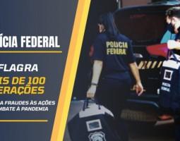 Polícia Federal completa mais de 100 operações contra fraudes relacionadas às ações de enfrentamento à pandemia