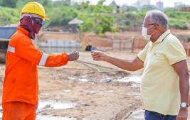 Prefeito de Teresina vistoria andamento de obras em bairros da zona Norte