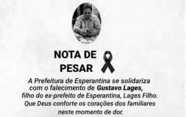 PREFEITURA DE ESPERANTINA - NOTA DE PESAR