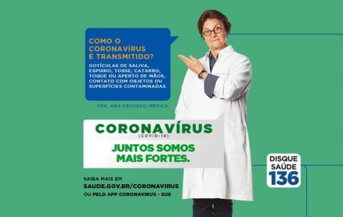 Juntos somos mais fortes: campanha publicitária é lançada para conscientização sobre coronavírus