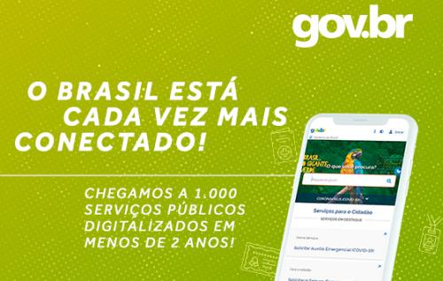 Portal gov.br já tem mil serviços públicos digitalizados para acesso do cidadão