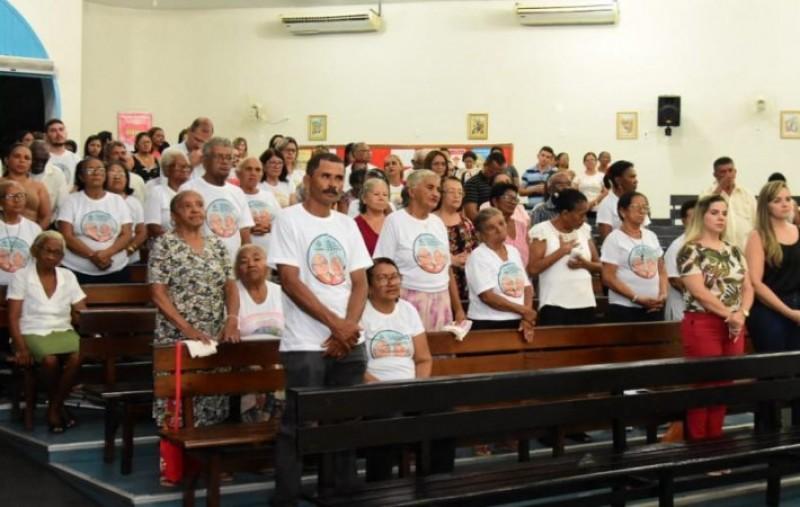 SEMDAS participa da Santa Missa pelos idosos atendidos pela pasta