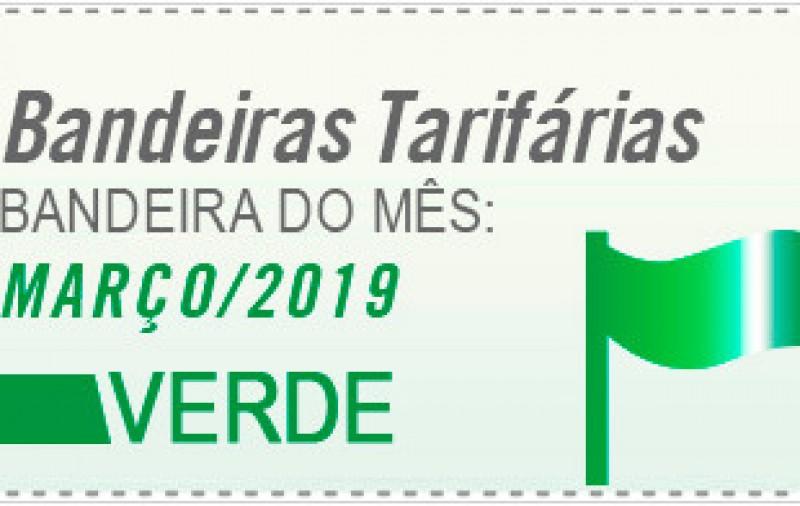 Bandeira tarifária segue verde em março