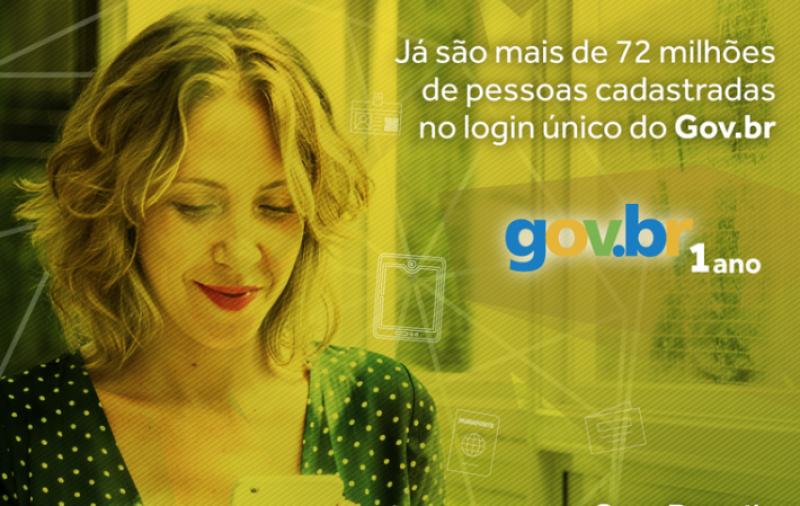 Portal gov.br completa um ano com mais de 72 milhões de pessoas cadastradas