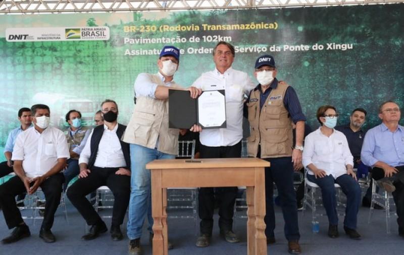 Trecho pavimentado da Transamazônica é entregue no Pará