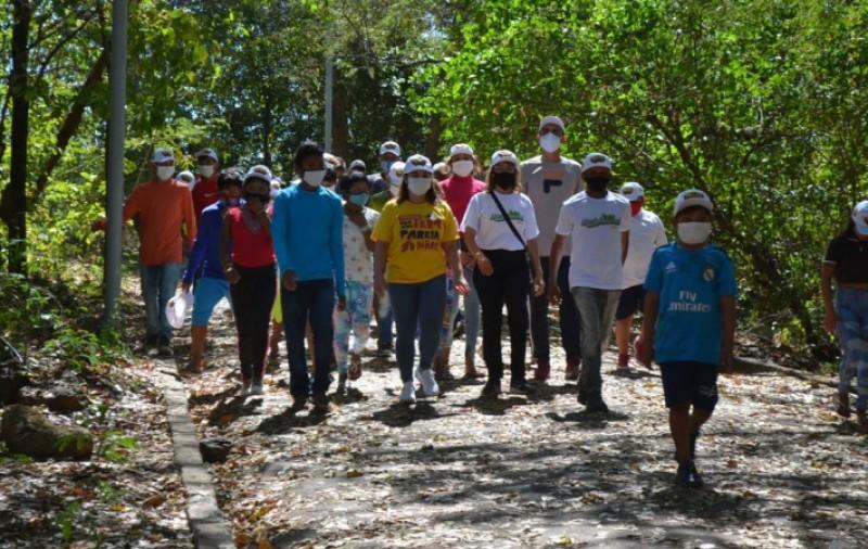 SEMAM e SEMJUV realizam trilha ecológica com participação de indígenas venezuelanos